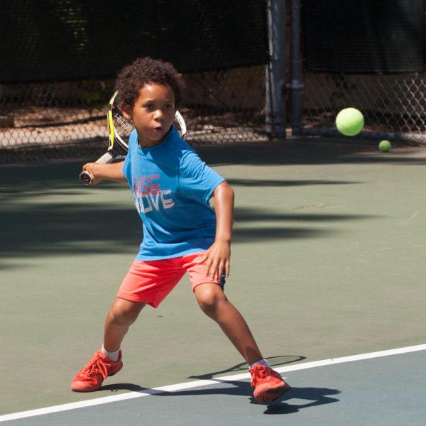 Mighty Munchkin Tennis Player on court