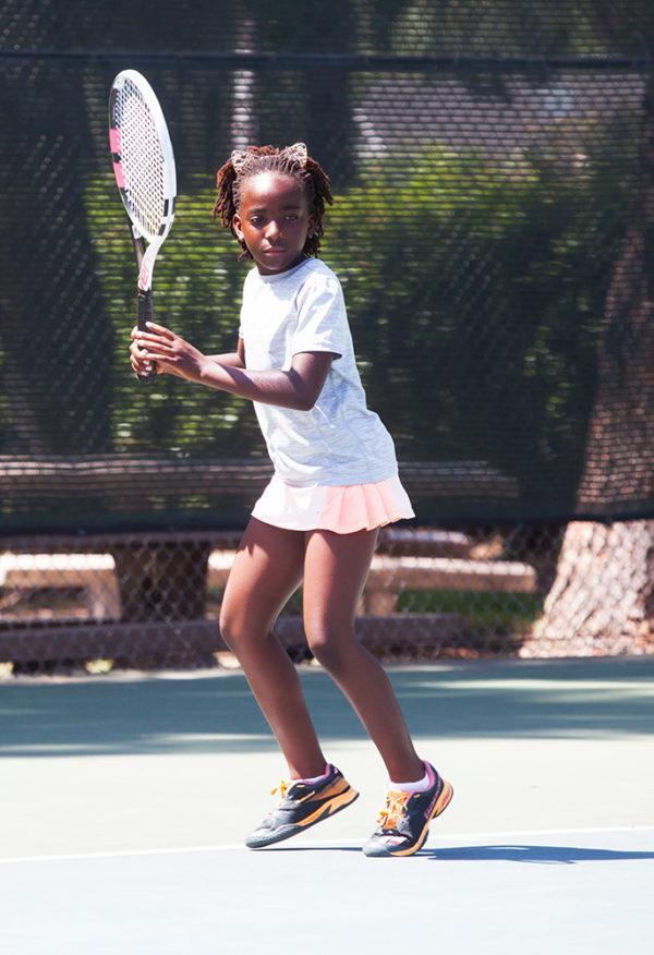 Junior Intermediate Player Girl on court