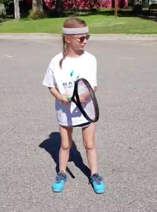 Mighty munchkin tennis player Badon Tennis Academy