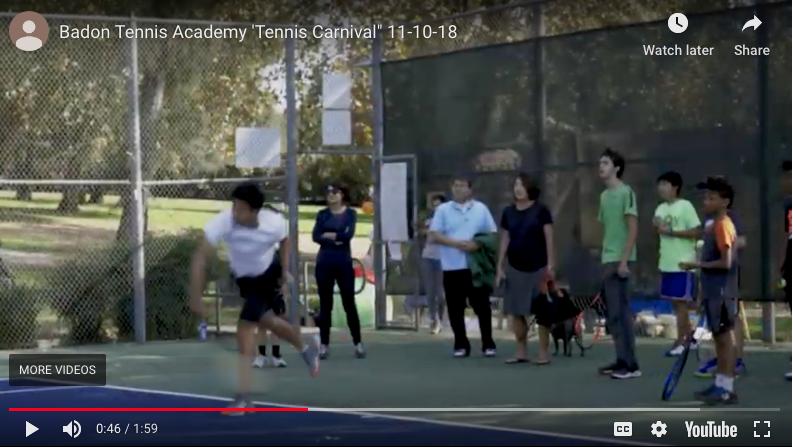 BTA Community Tennis Carnival 11-10-18