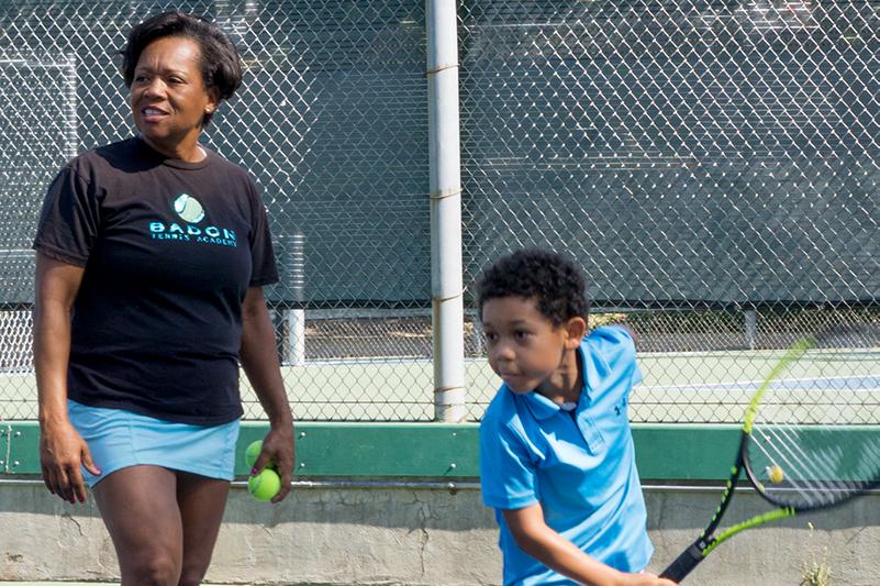 Veronica Badon teaches private tennis lesson