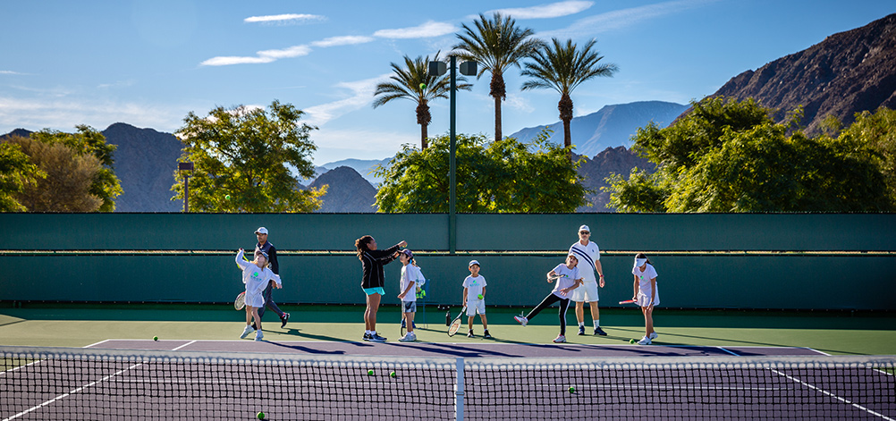 Badon Tennis Academy practicing at Indian Wells